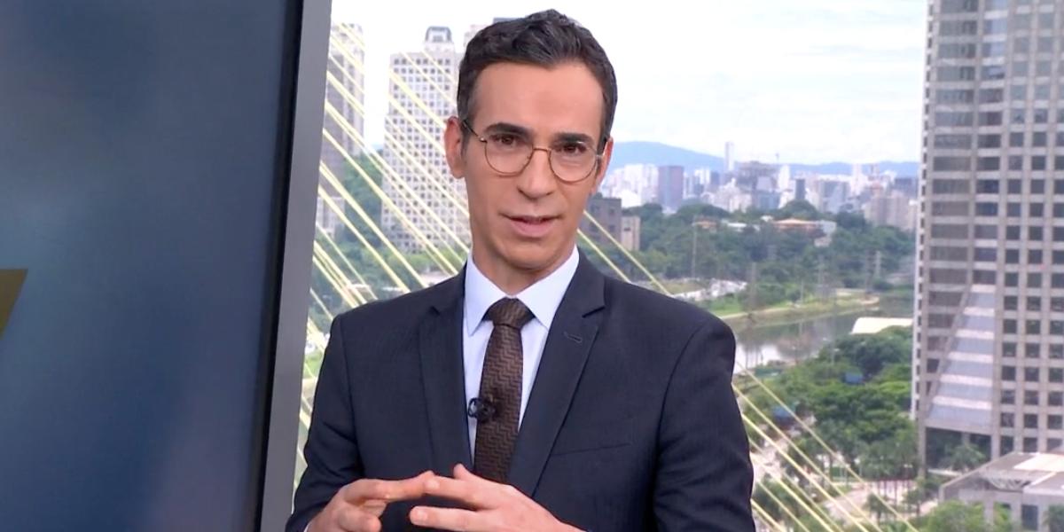 César Tralli volta ao comando de jornal SP1, na Globo (Reprodução)