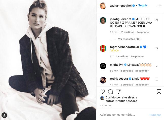 Sasha encanta corações em última postagem nas redes sociais (Foto: Will Vendramini)