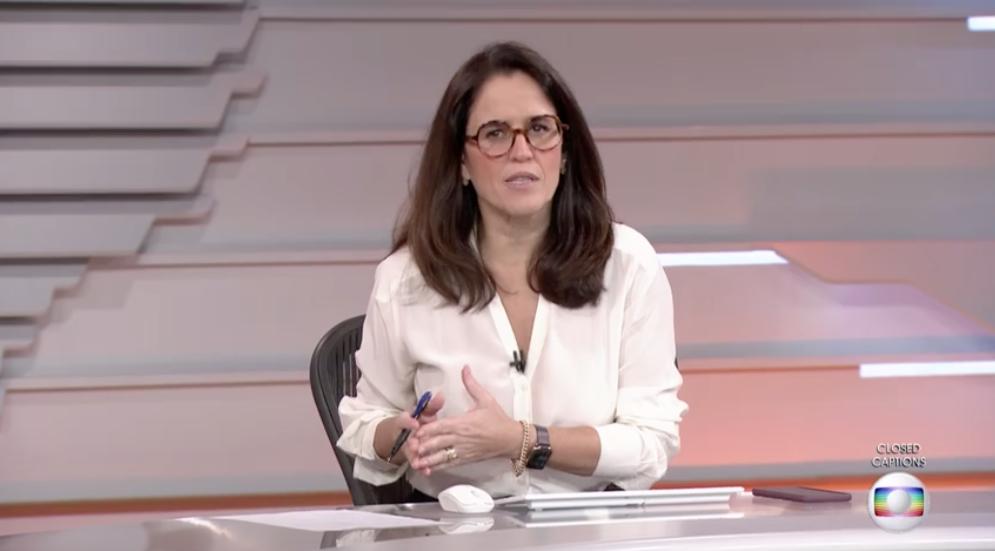 Ana Luiza Guimarães no comando do Bom Dia Brasil (Foto: Reprodução/Globo)