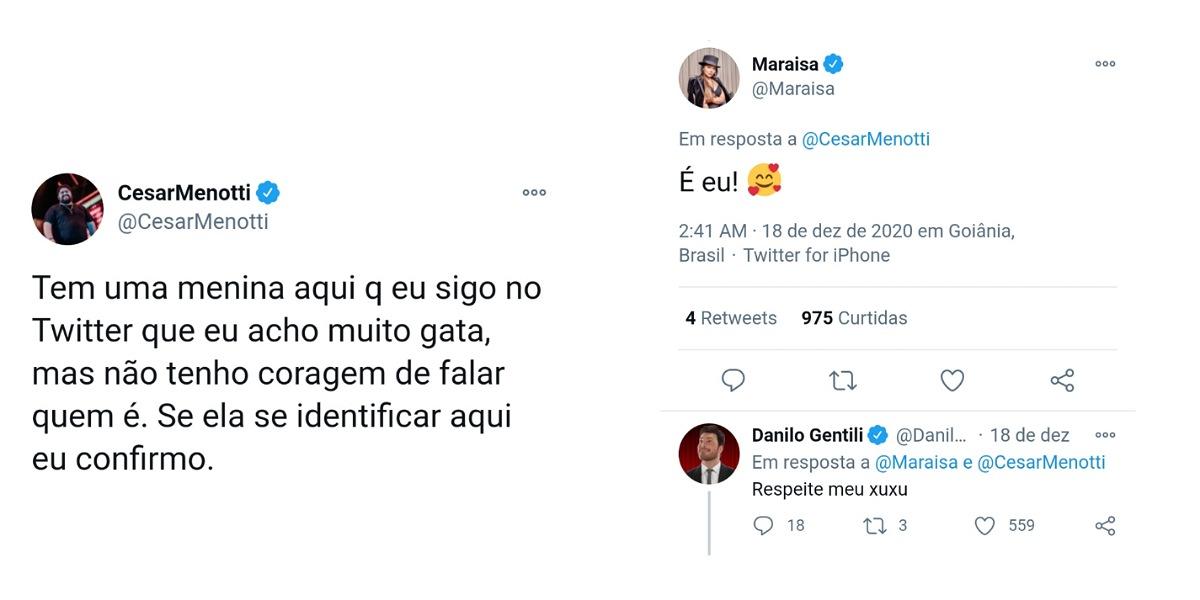 César Menotti e Maraisa brincam com crush secreto do cantor (Foto: Reprodução/Instagram)
