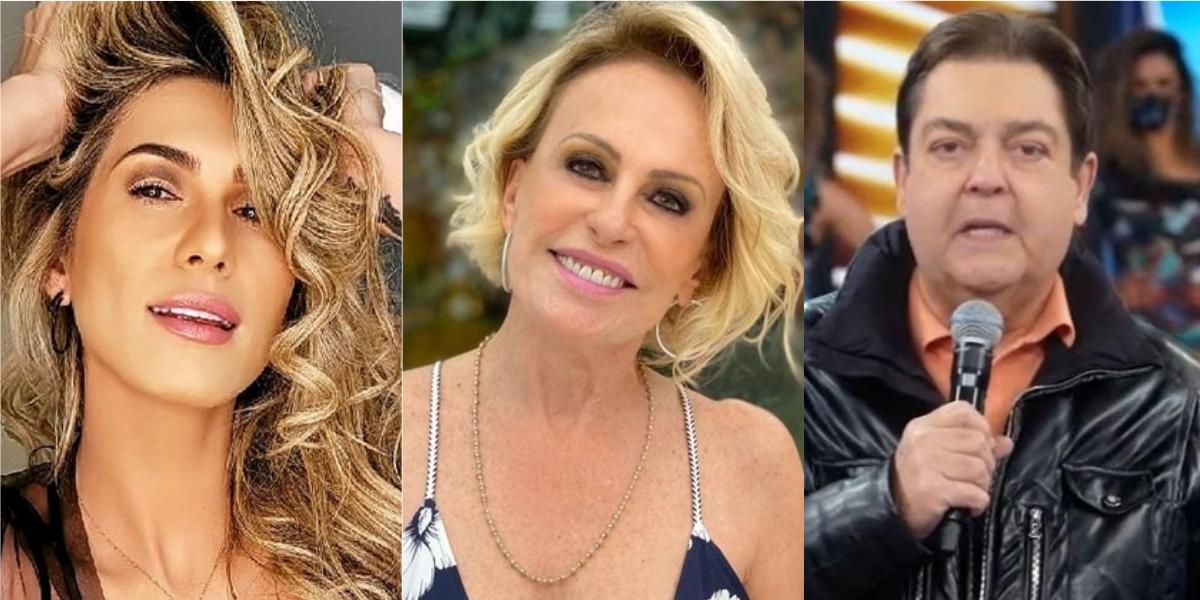 Lívia Andrade, Ana Maria Braga e Faustão (Reprodução)