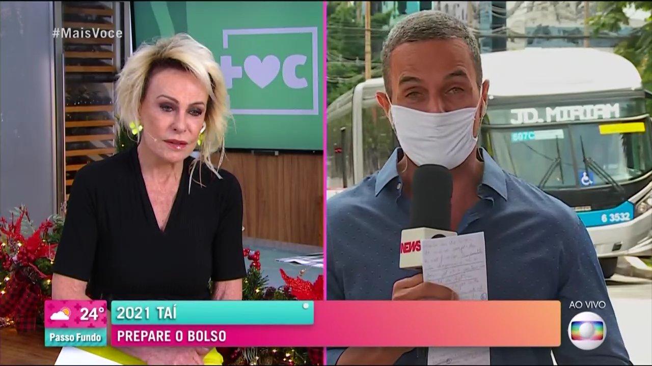 Ana Maria Braga deu bronca em repórter (Foto: Reprodução/Globo)