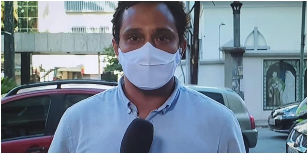 Repórter da GloboNews se emocionou e foi às lágrimas ao vivo após falar da morte da mãe (Foto: Reprodução)