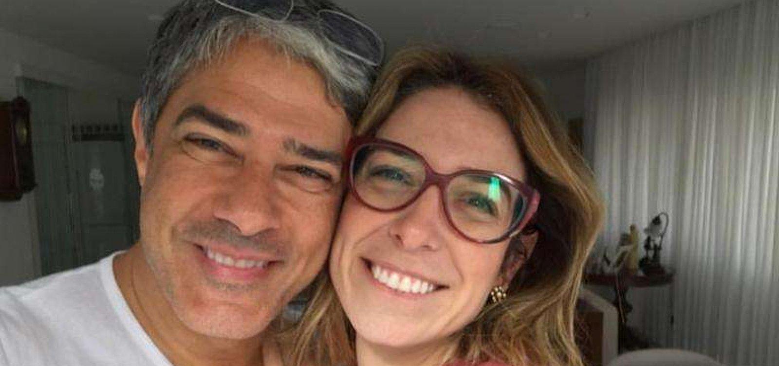 William Bonner e Natasha Dantas (Foto: Reprodução)