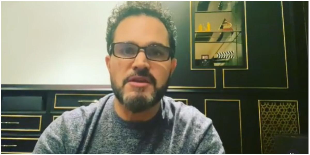 Luciano Camargo expõe agradecimento após ter sido infectado pela covid (Foto: Reprodução)