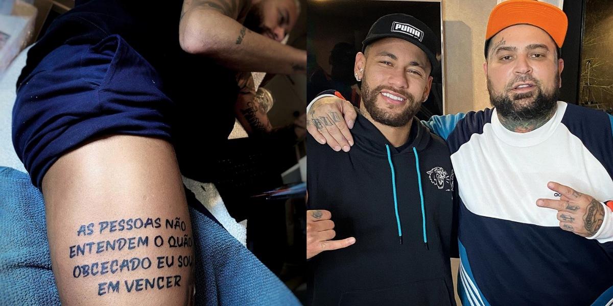 Neymar tatua frase de Kobe Bryant após ficar de fora do prêmio The Best (Foto: Reprodução/Instagram)