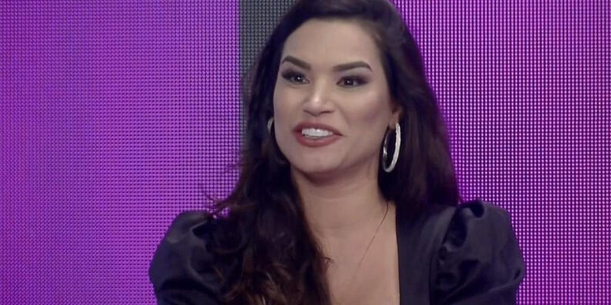 Raissa Barbosa participou de live com Marcos Mion e Lucas Selfie (Foto: Reprodução)