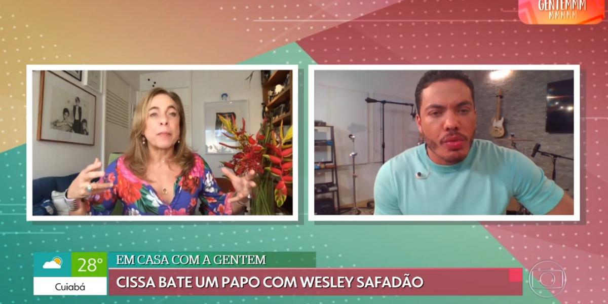 Em bate papo com Cissa Guimarães, Wesley Safadão revela motivo da mudança de corpo - Foto: Reprodução/Globo Play