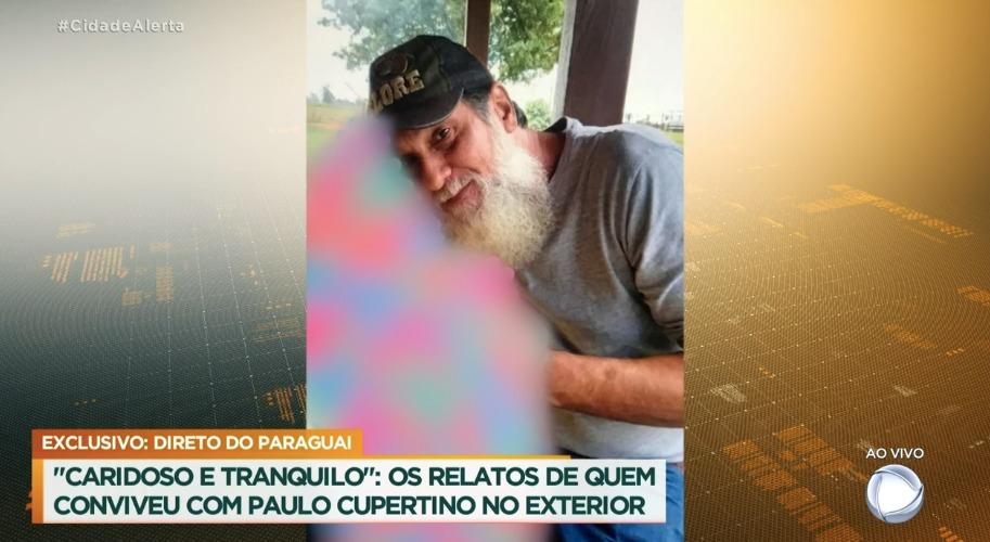 Atual aparência de Paulo Cupertino (Foto: Reprodução/Record)