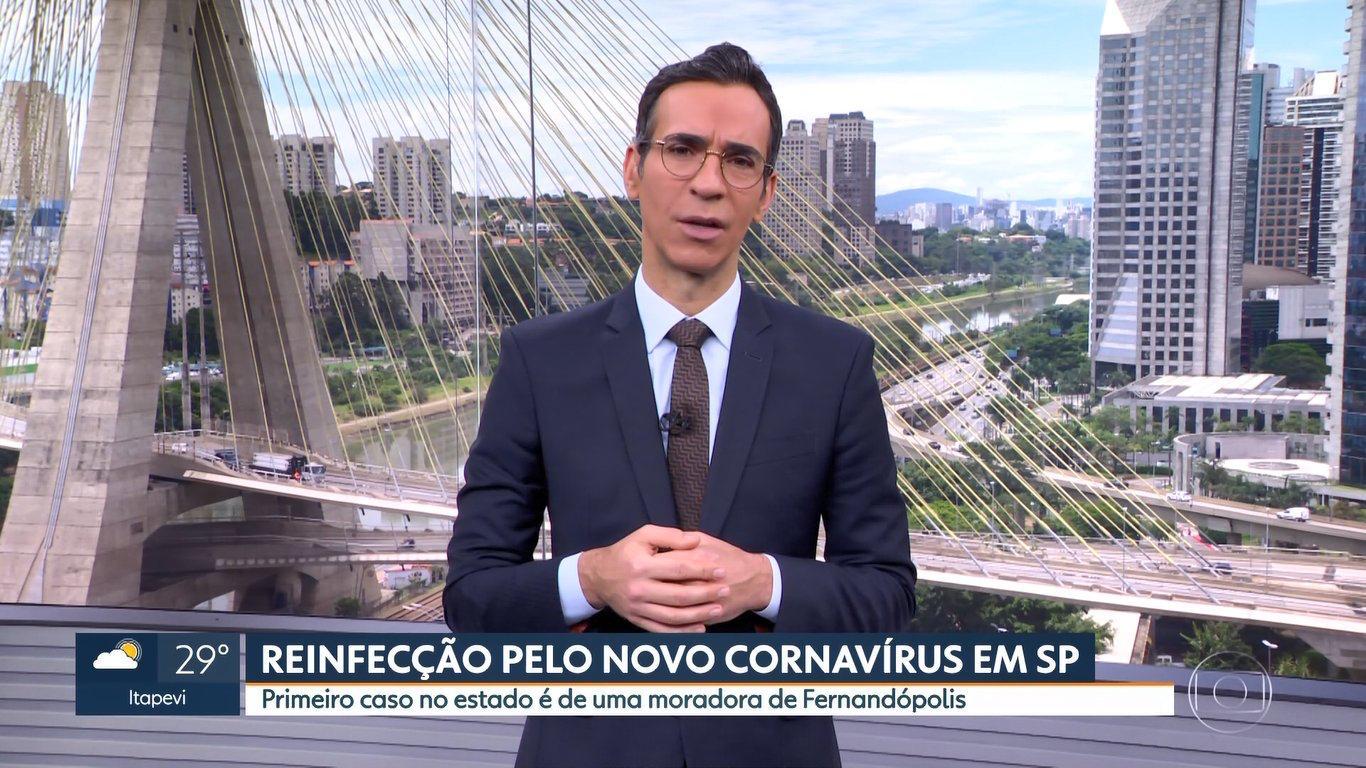 """César Tralli e o """"Cornavírus"""" (Foto: Reprodução/TVGlobo)"""
