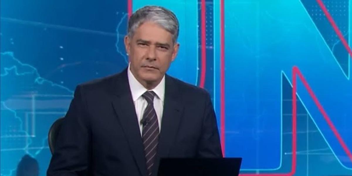 William Bonner exibiu repúdio a Bolsonaro no Jornal Nacional (Foto: Reprodução)