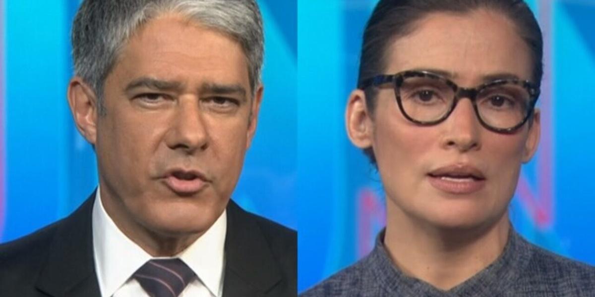 William Bonner e Renata Vasconcellos estão afastados do Jornal Nacional (Foto: Montagem)
