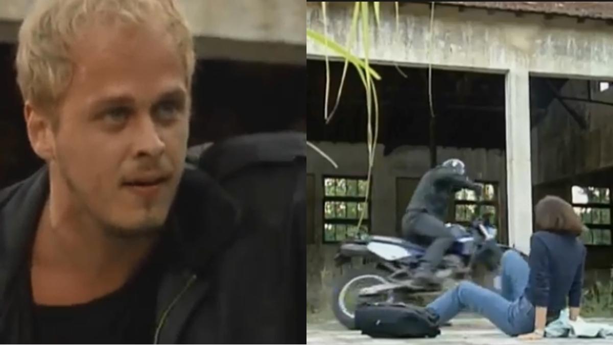 Após fuga, Alexandre abandona Lisa e a deixa comendo poeira em A Viagem (Foto: Reprodução/ Globo)