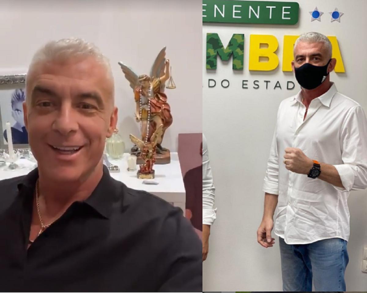 Alexandre Correa em fotos recentes bem mais magro (Foto: Reprodução)
