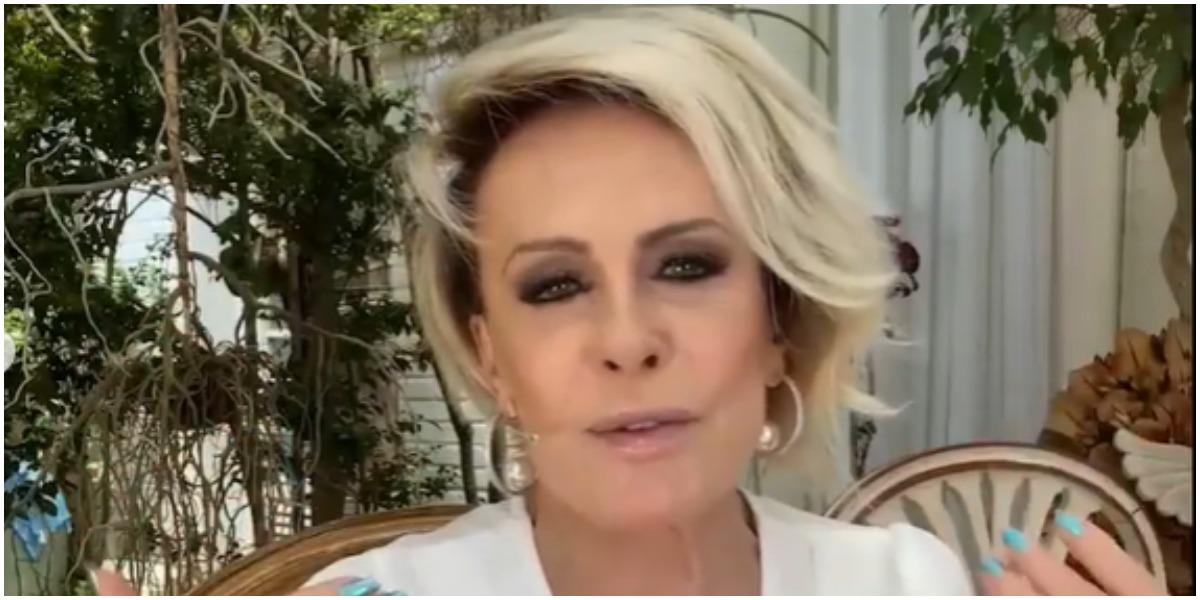 Ana Maria Braga leva Tiago Leifert às lágrimas no Mais Você (Foto: Reprodução)