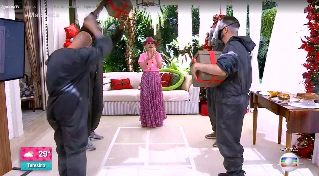 Ana Maria em gincana desta quarta-feira (Foto: Reprodução/TV Globo)