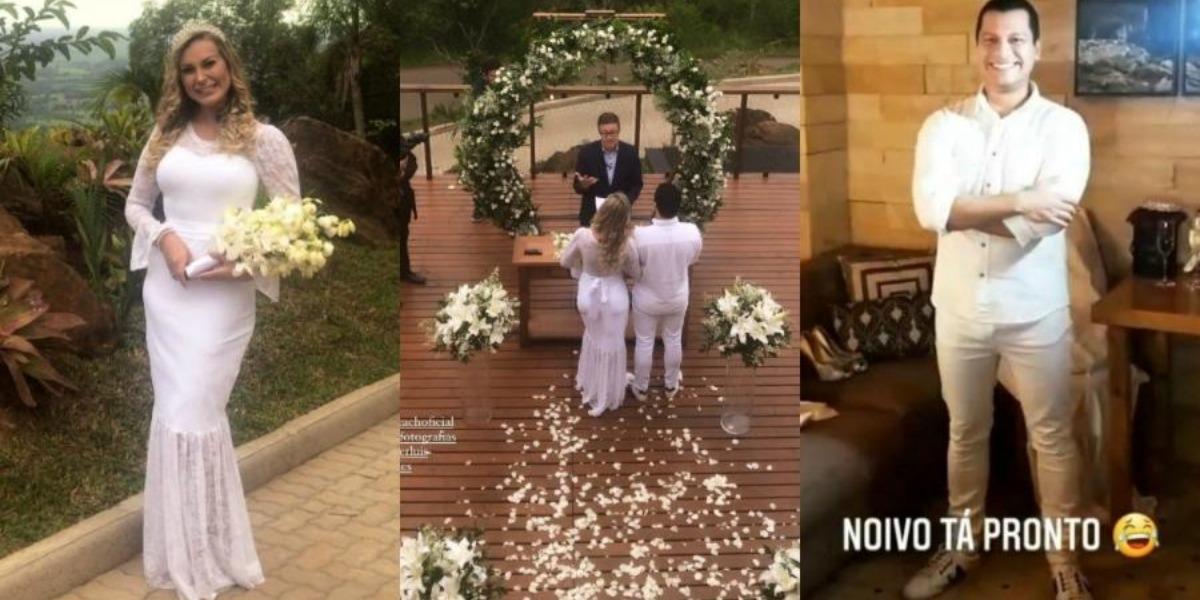 Andressa Urach e Thiago Lopes no casamento (Foto: Reprodução)
