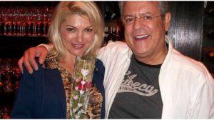 A atriz Antonia Fontenelle com o diretor Marcos Paulo - Foto: Reprodução