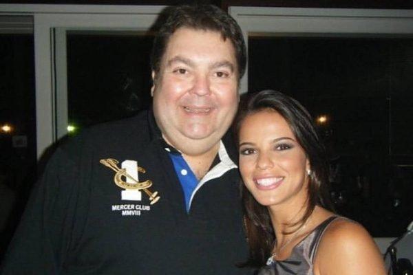 Marianne Bastos ao lado do apresentador Faustão (Foto: Divulgação)