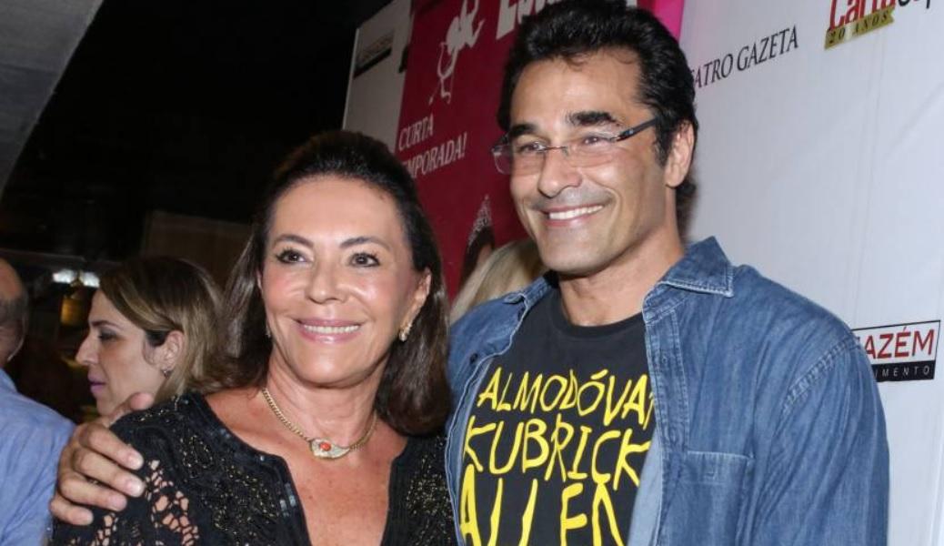 Luciano Szafir ao lado da mãe, Beth Szafir (Foto: Reprodução)
