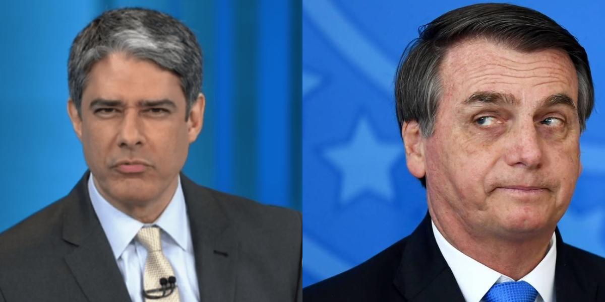 William Bonner e Jair Bolsonaro (Foto: Montagem/TVFoco)