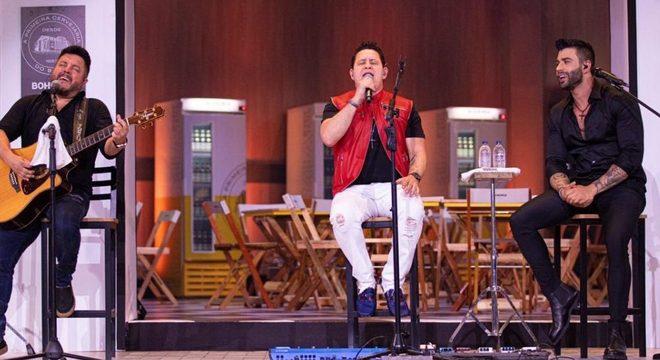 A revelação de Marrone foi feita durante a live da dupla com Gusttavo Lima (Foto: Reprodução)