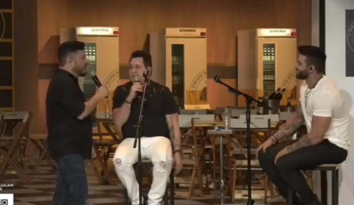 Bruno, Marrone e Gusttavo Lima (Foto: Reprodução)