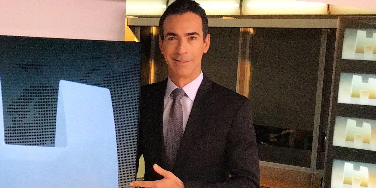 """Cesar Tralli no """"Jornal Hoje"""" (Foto: Divulgação/TV Globo)"""