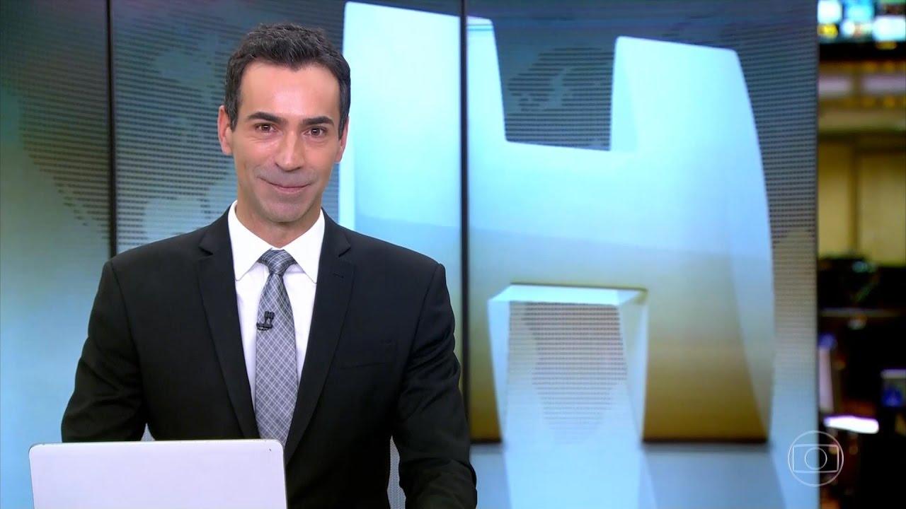 Cesar Tralli no Jornal Hoje (Foto: Divulgação)