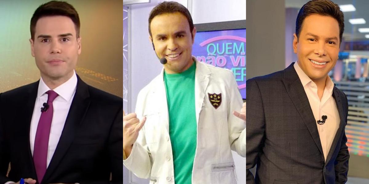 Luiz Bacci, Caco Rodrigues e Marcão do Povo (Foto: Montagem TVFoco)