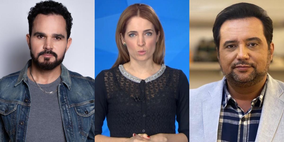 Luciano Camargo, Poliana Abritta e Geraldo Luís (Foto: Montagem/TVFoco)
