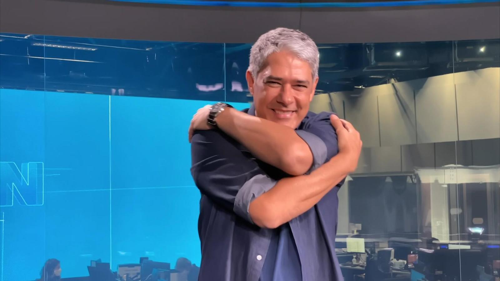 William Bonner em vinheta de final de ano da Globo (Foto: Reprodução / Globo)