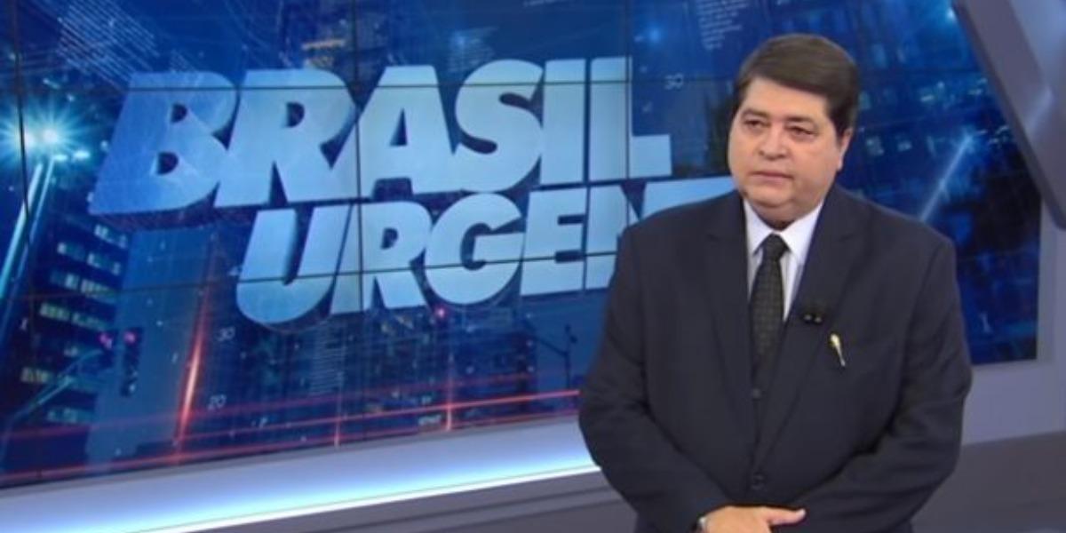 Datena no comando do Brasil Urgente (Foto: Reprodução)