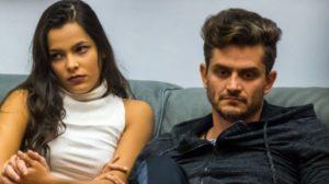 "Emilly Araújo e Marcos Härter no ""Big Brother Brasil 17"" (Foto: Reprodução/TV Globo)"