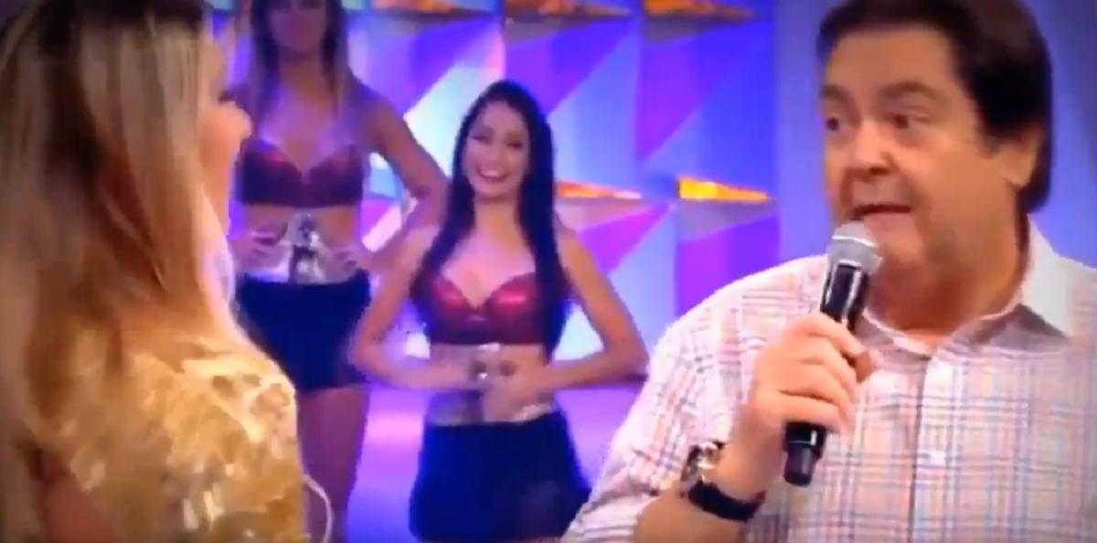 Faustão detonou Tatiele (Foto: Reprodução) Globo