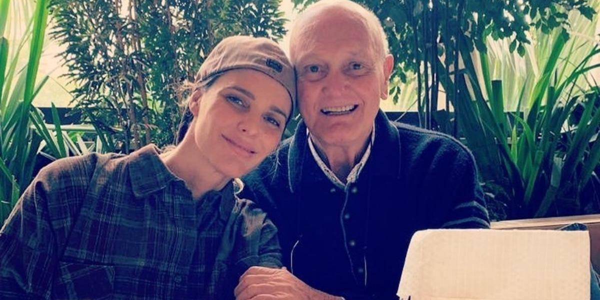 Fernanda Lima e o pai Cleomar Lima (Foto: Reprodução)