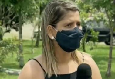 Entrevistada passa mal em entrevista em jornal da GloboNews (Foto: Reprodução)