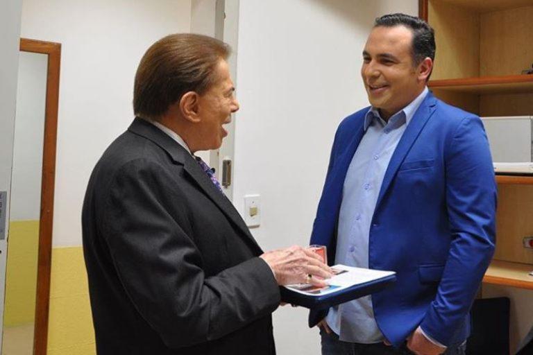 Reinaldo Gottino e Silvio Santos