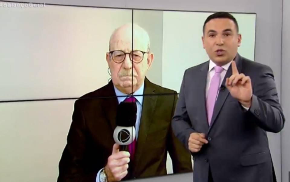 Reinaldo Gottino e Renato Lombardi no Balanço Geral SP (Foto: Divulgação)