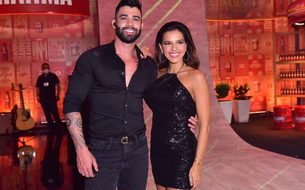 Gusttavo Lima e Mariana Rios (Foto: Leo Franco/AgNews)