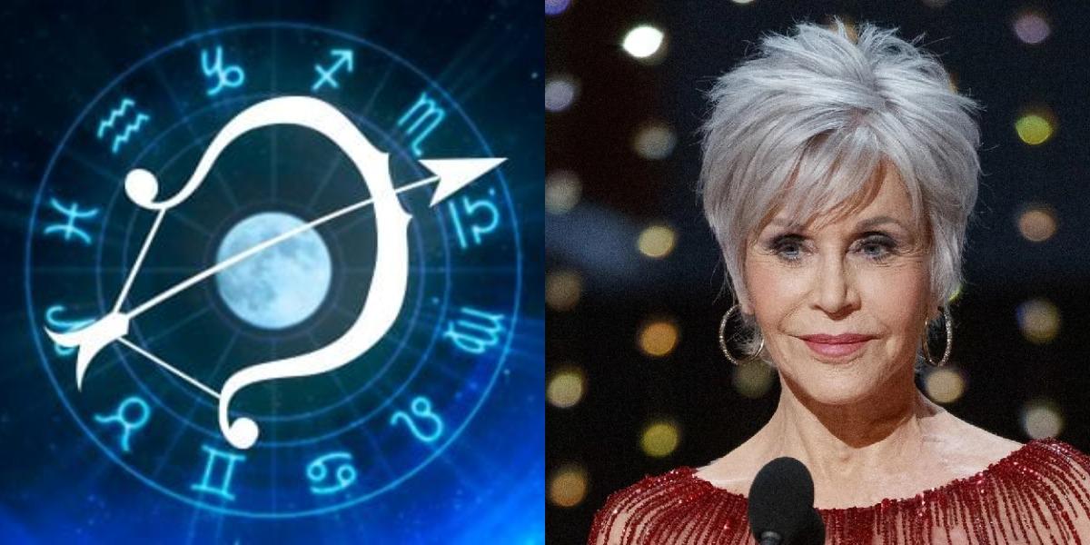 A segunda-feira, 21, é marcada pelo aniversário da atriz Jane Fonda, artista do signo de Sagitário (Foto: Reprodução)