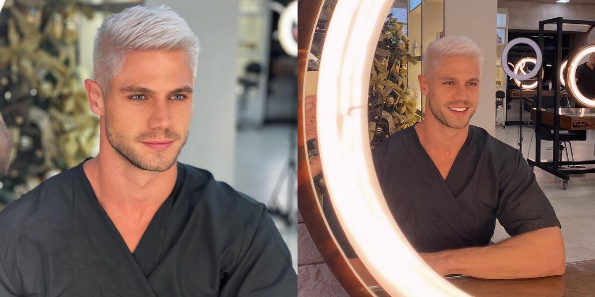 Jonas Sulzbach surge de cabelo platinado (Foto: Reprodução/Instagram)