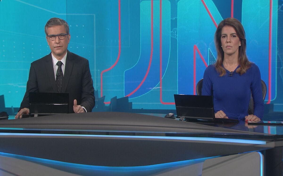 Nesta terça- feira, Mariana Gross e Jornal Nacional, da Globo (Foto: Divulgação)