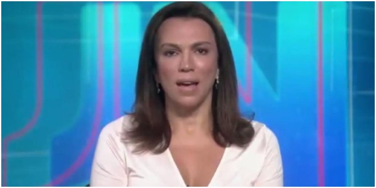 Ana Paula ARaújo abriu o Jornal Nacional com notícia de prisão (Foto: Reprodução)