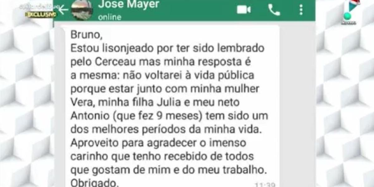 """José Mayer ao """"A Tarde é Sua"""" (Foto: Reprodução/RedeTV!)"""