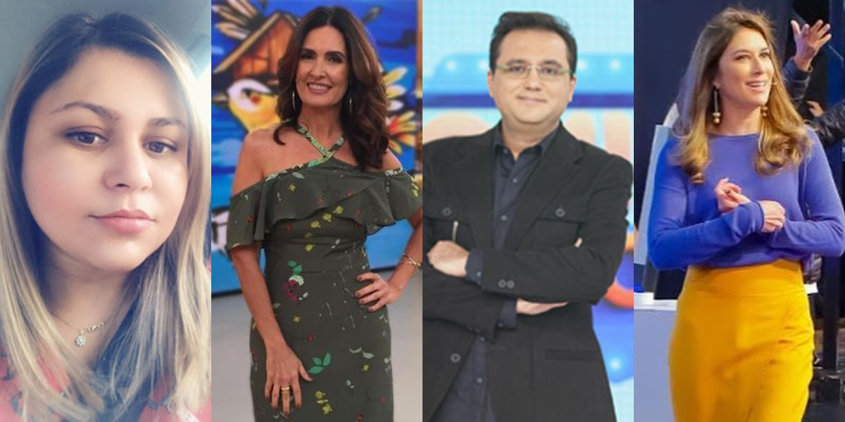 Lene Sensitiva fez previsões para Geraldo Luís, Fátima Bernardes e Rebeca Abravanel (Foto: Reprodução/Instagram/Instagram/Record/SBT)