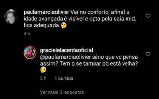 Graciele Lacerda detona internauta após comentário sobre sua idade (Reprodução)