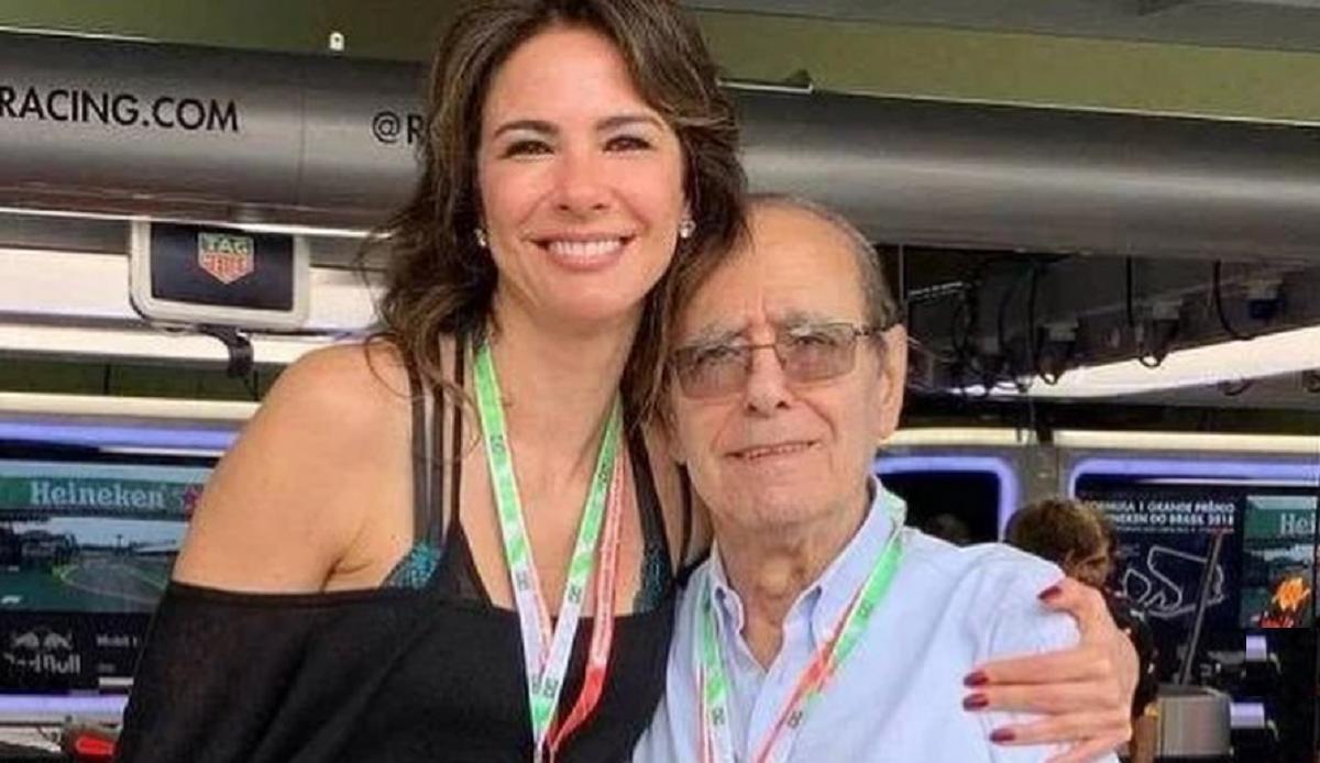 Luciana Gimenez e seu pai (Foto: Reprodução)