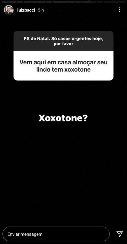 Luiz Bacci expôs proposta indecente de uma mulher (Foto: Reprodução/ Instagram)