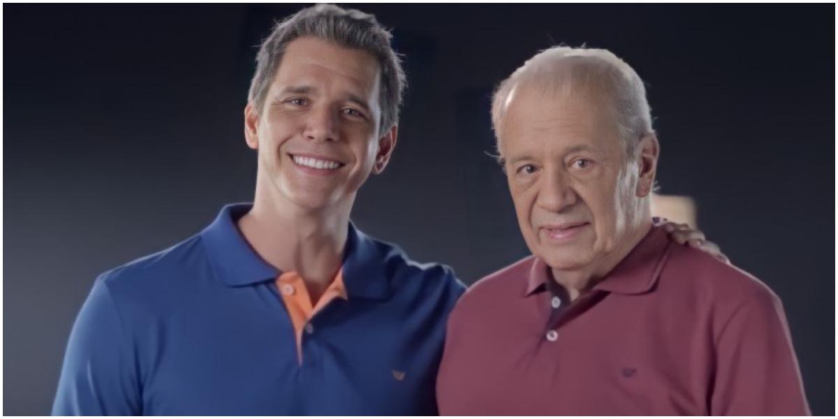 O apresentador Marcio Garcia com o pai - Foto: Reprodução